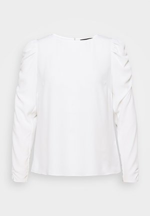 LONG SLEEVE PUFF SHOULDER - Bluser - white