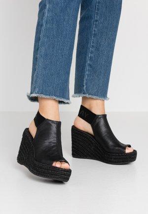 TYNE - Sandalen met hoge hak - black