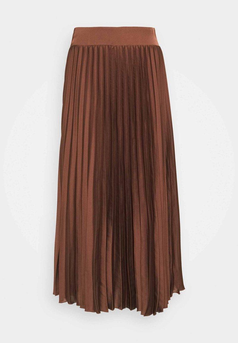 Selected Femme - SLFMILONA PLISSE SKIRT  - Pleated skirt - marron