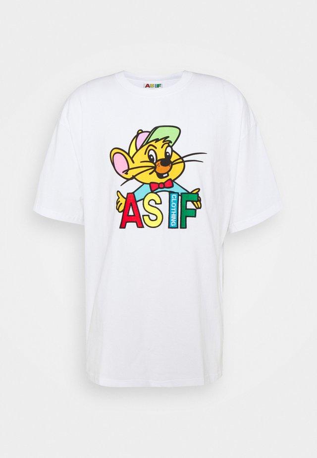 RIZZO TEE UNISEX - T-shirt print - white