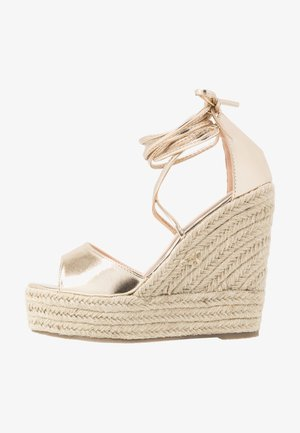 WIDE FIT MAREA - High heeled sandals - gold