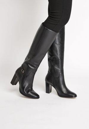 TAN SIGNATURE  - Kozačky na vysokém podpatku - black