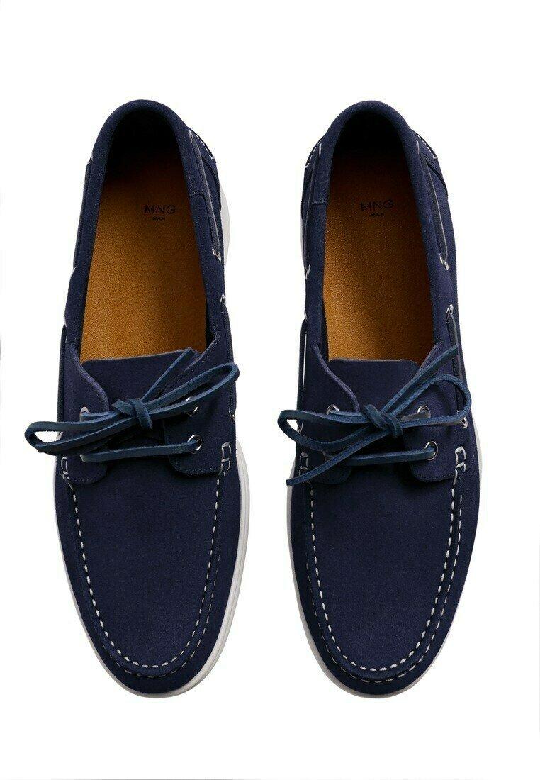 Mango - Boat shoes - blau