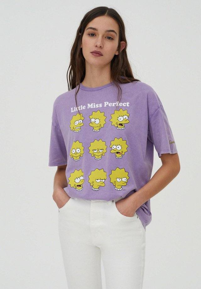 LISA SIMPSON - T-shirt print - mauve