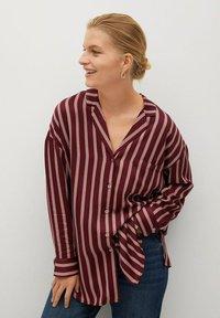 Violeta by Mango - RALLON - Button-down blouse - maroon - 0
