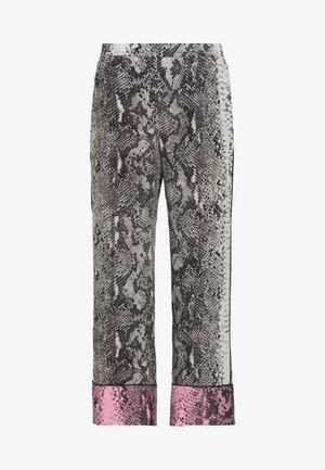 SNAKE PRINT PANT - Trousers - fondo beige
