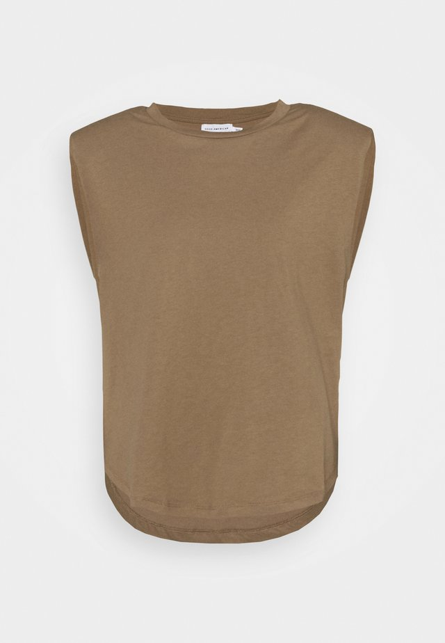 STRONG SHOULDER TANK - T-shirt basic - taupe