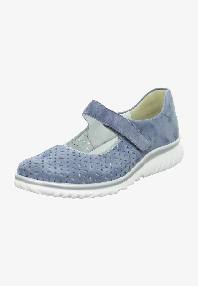 LENA - Ankle strap ballet pumps - sky/blau
