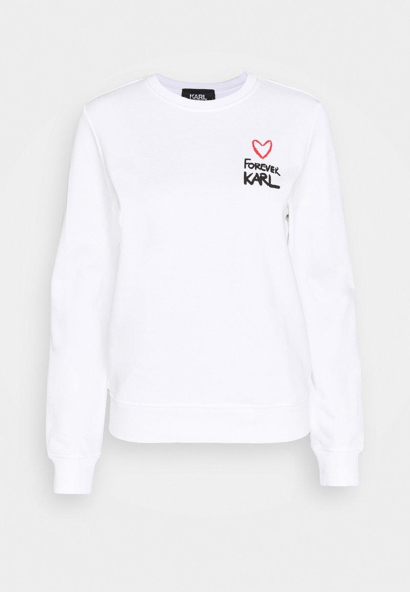 KARL LAGERFELD - FOREVER KARL  - Sweatshirt - white