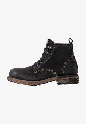 UTAH - Šněrovací kotníkové boty - black
