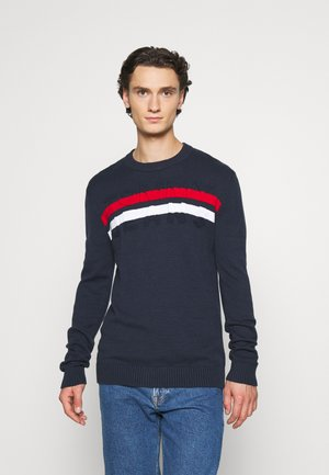 BLOCK STRIPE  - Pullover - twilight navy/multi