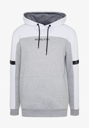 Sweat à capuche - white/grey marl/black