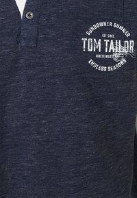 TOM TAILOR - COLORFUL NEP HENLEY - T-shirt med print - sailor blue melange - 2