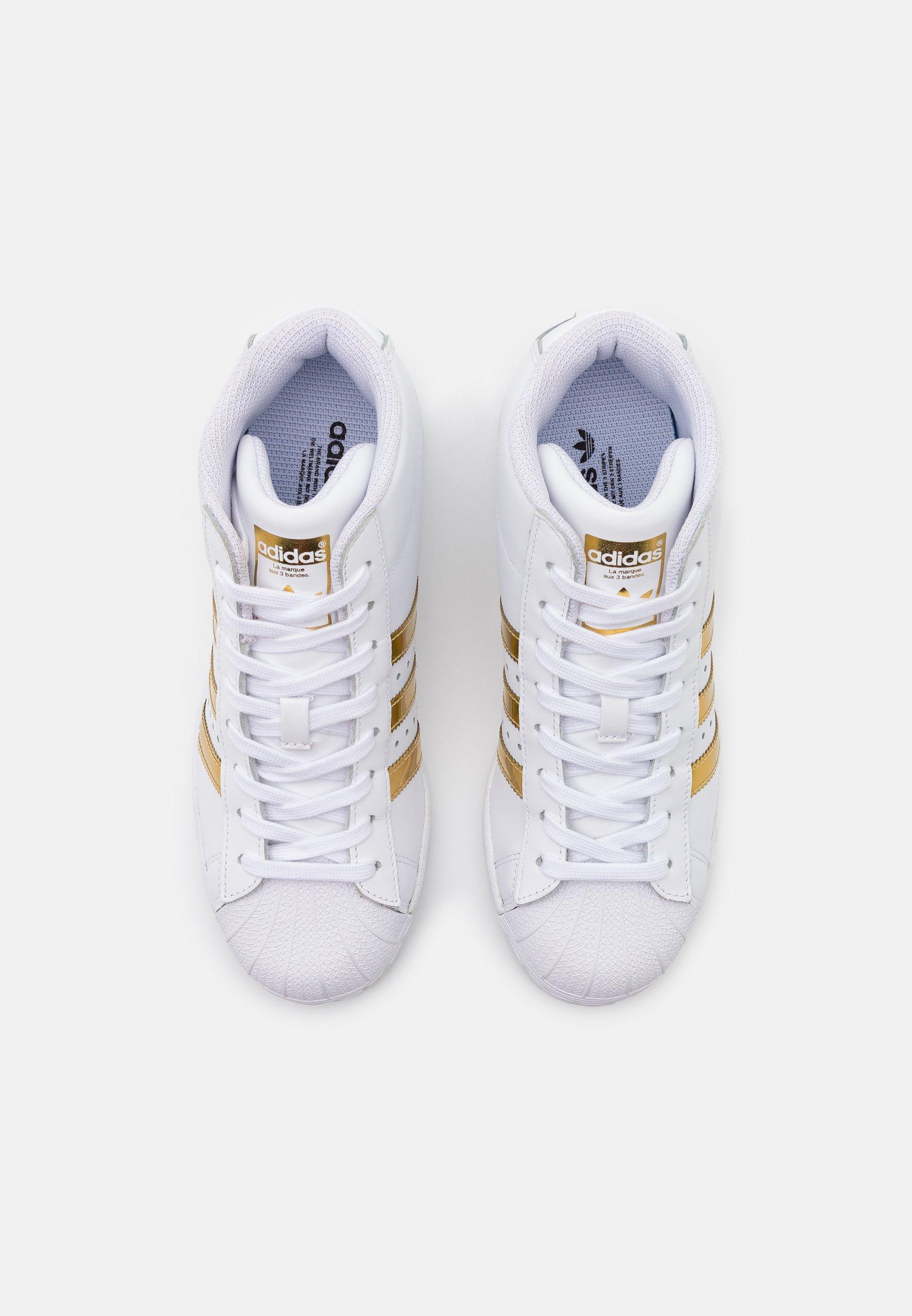 SUPERSTAR UP - Baskets montantes - footwear white/gold metallic/core black