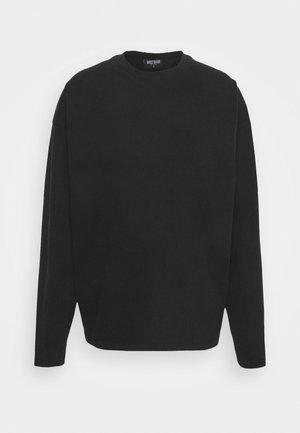 LONGSLEEVE UNISEX - Long sleeved top - black