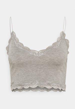 COZY CROP - Camiseta de pijama - heather grey
