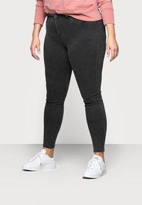 Noisy May Curve - Jeans Skinny Fit - dark grey denim - 0