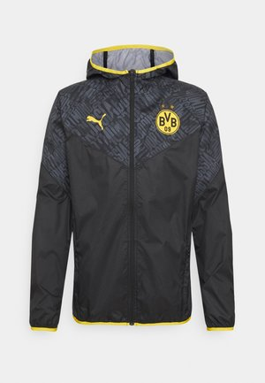 BVB BORUSSIA DORTMUND WARMUP JACKET - Club wear - puma black/cyber yellow
