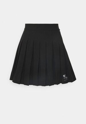 PLEAT SKIRT - Minirock - black