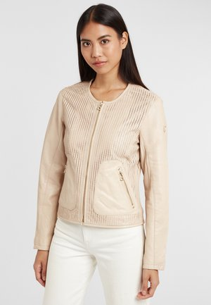 Leather jacket - beige
