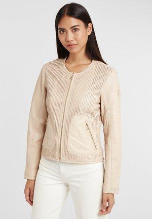 Leather jacket - beige