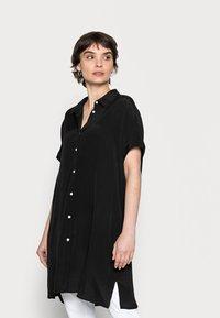 Opus - FARTAN - Button-down blouse - black - 0