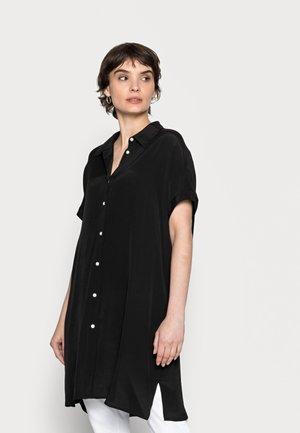 FARTAN - Button-down blouse - black