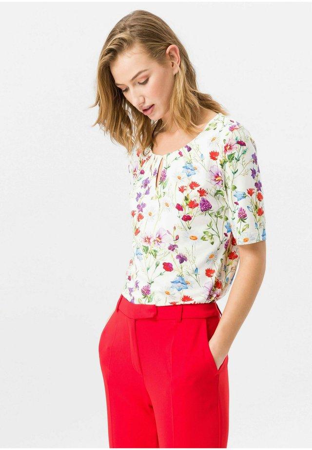 RUNDHALS-SHIRT RUNDHALS-SHIRT - Bluse - offwhite/multicolor