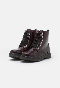 TOM TAILOR - Lace-up ankle boots - bordo - 1