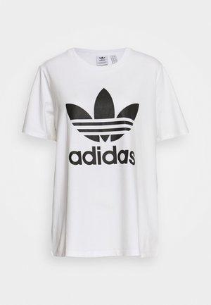 TREFOIL TEE - Print T-shirt - white/black
