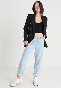 BDG Urban Outfitters - LONG SLEEVE V NECK - Topper langermet - black - 1