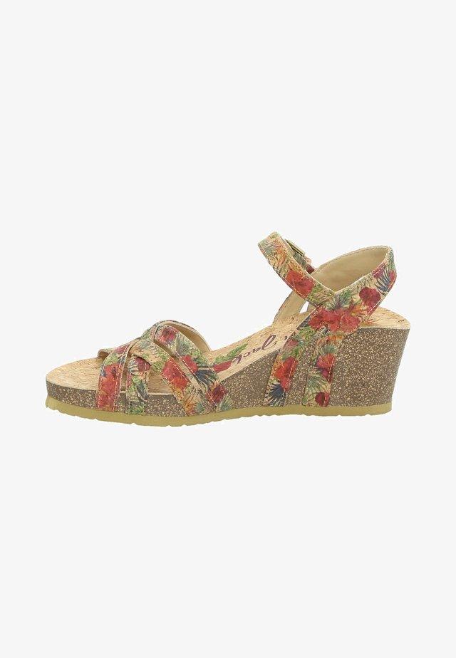 VERA CORK - Sandalen met sleehak - multi