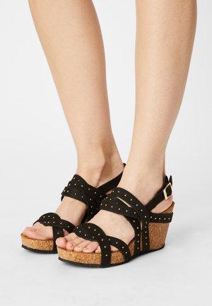 PLEASURE - Wedge sandals - black