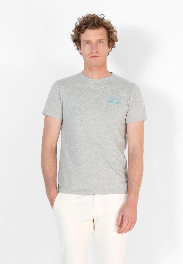 ADDICT - Print T-shirt - grey melange