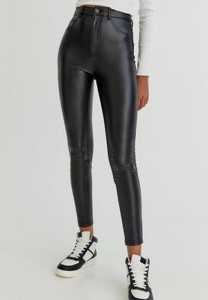 SKINNY-FIT - Leggingsit - mottled black