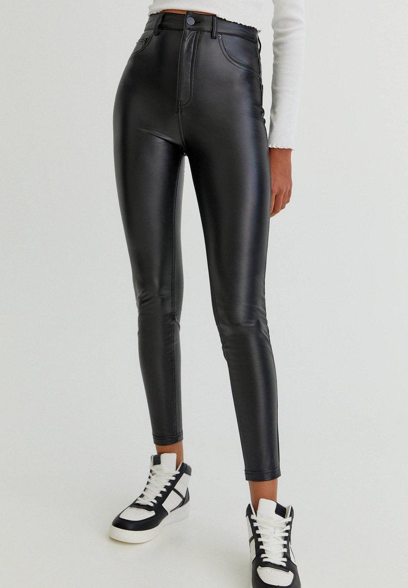 PULL&BEAR - SKINNY-FIT - Legging - mottled black
