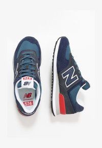 New Balance - 574 - Sneakers basse - stone blue outerspace (ML574EAE) - 1