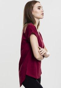 Urban Classics - SLUB TEE - Basic T-shirt - burgundy - 4