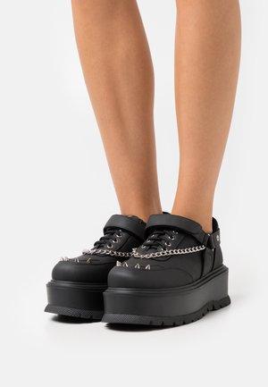 VEGAN RETROGRADE - Šněrovací boty - black