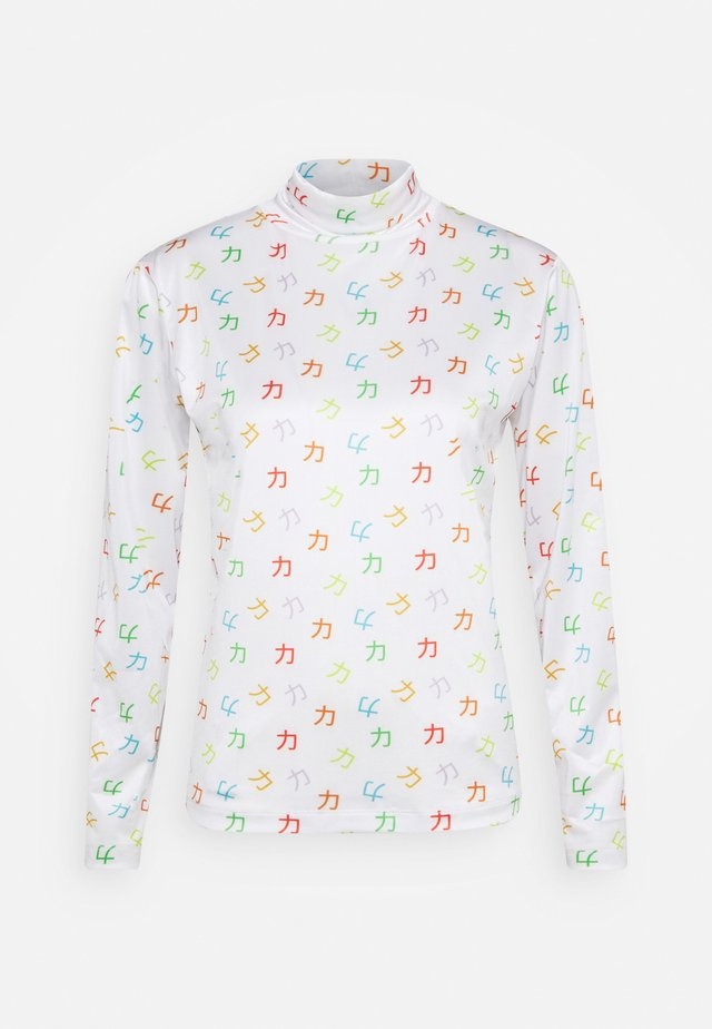 TESS TURTLENECK - Långärmad tröja - white/multi