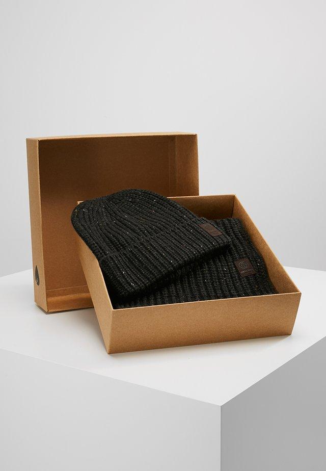 ONSEMILE BOX SCARF BEANIE SET - Sjaal - dark grey melange