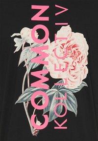 Common Kollectiv - FLORAL UNISEX - Camiseta estampada - black - 2
