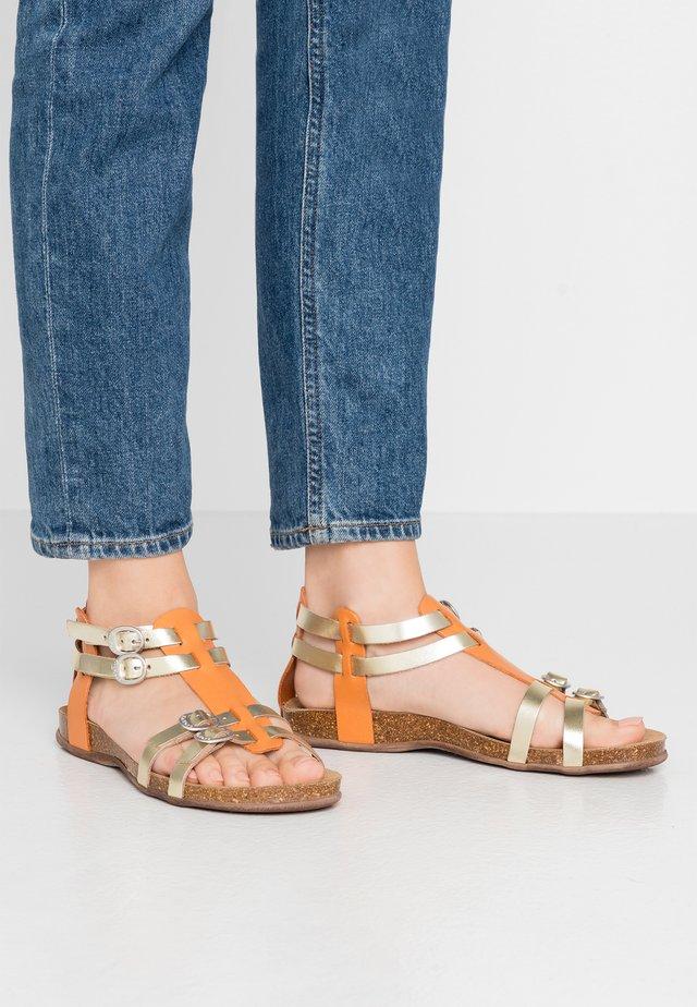 ANA - Sandaalit nilkkaremmillä - orange/metal