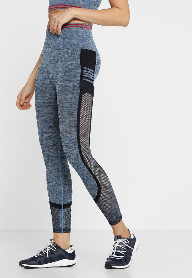 SEAMLESS INJECTION SPORTS LEGGING - Tights - blue/red mix