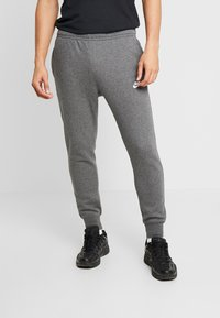 Nike Sportswear - CLUB - Tracksuit bottoms - charcoal heather/anthracite/white - 0