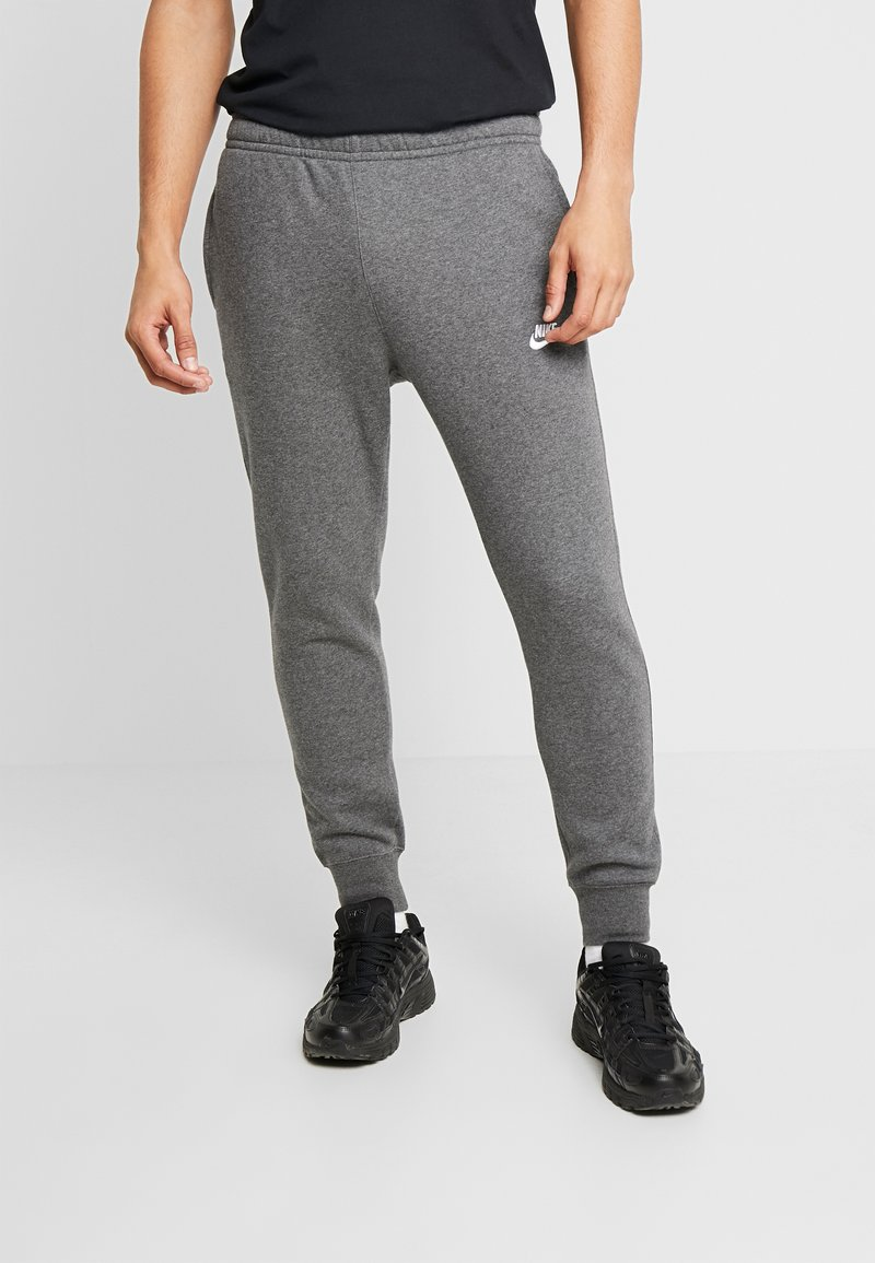 Nike Sportswear - CLUB - Tracksuit bottoms - charcoal heather/anthracite/white