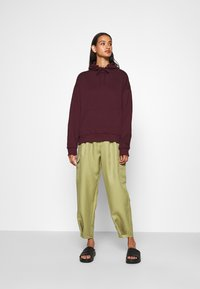 Even&Odd - BASIC - Oversized hoodie with pocket - Huppari - bordeaux - 1