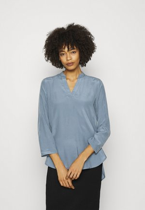 Basic V neck Blouse - Pusero - slate blue