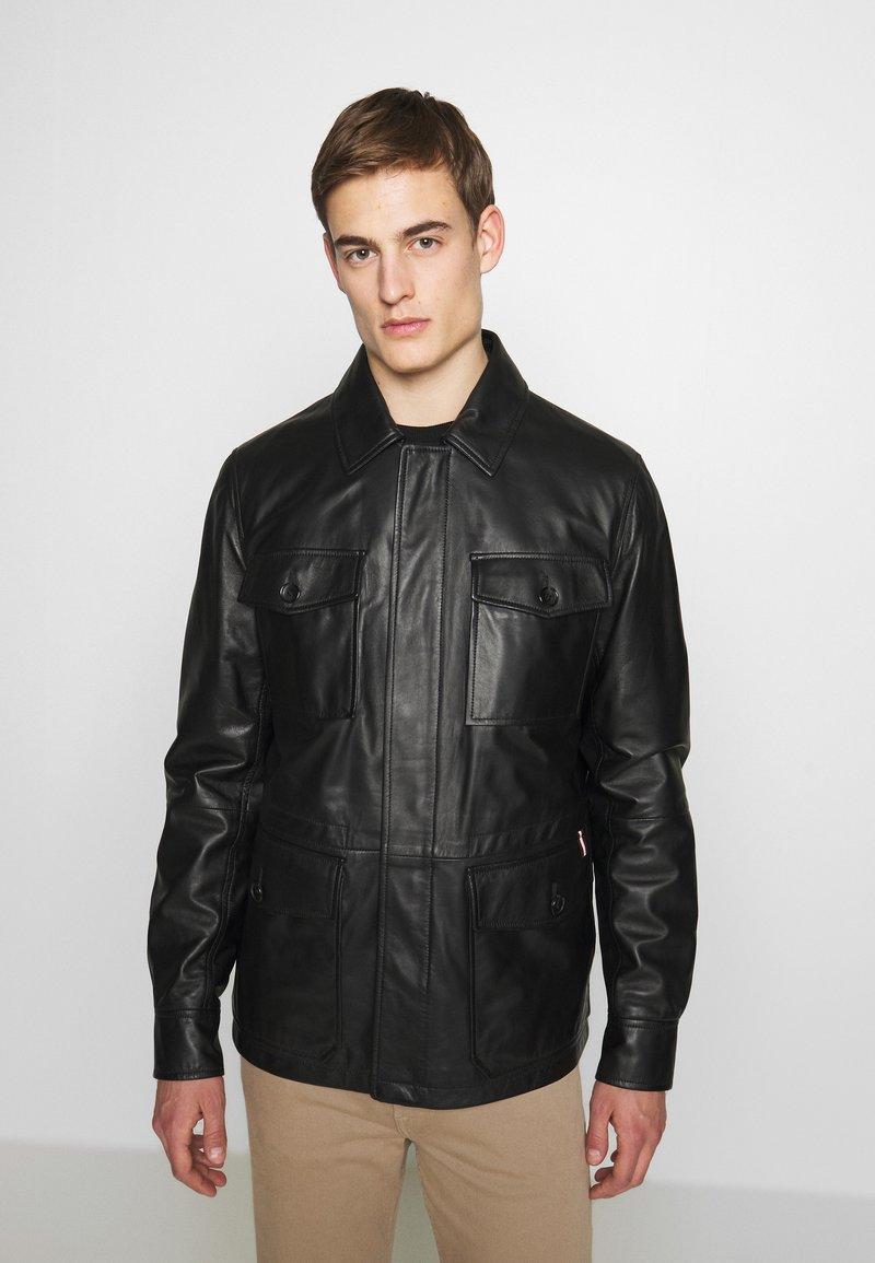 Bally - JACKET - Veste en cuir - black