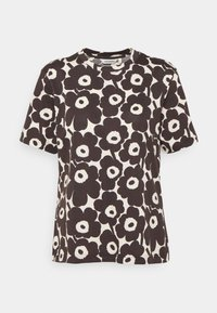 Marimekko - CLASSICS KAUTTA MINI UNIKKO - Print T-shirt - light beige/dark brown - 0
